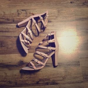 Breckelles strappy heels, NEW, with box